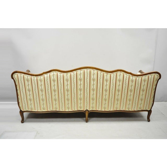 Early 20th C. Vintage French Louis XV Provincial Style Sofa For Sale - Image 10 of 12