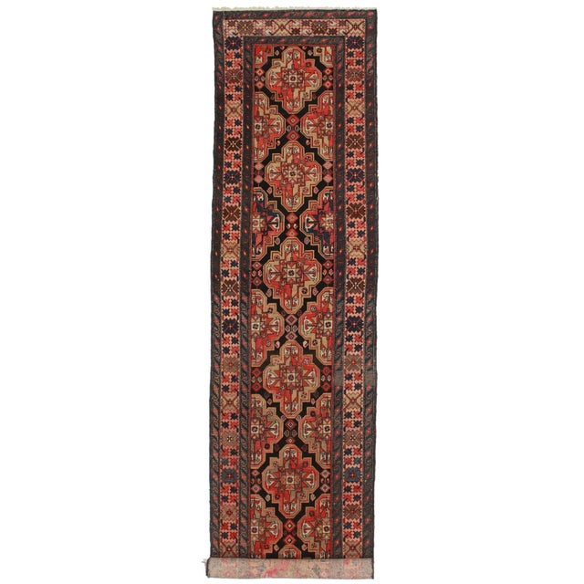 Vintage Persian Malayer Runner - 3′5″ × 16′6″ For Sale