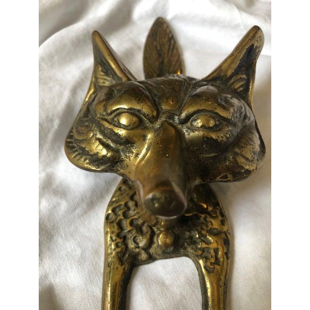 Mid-Century Brass Fox Door Knocker For Sale In Houston - Image 6 of 10
