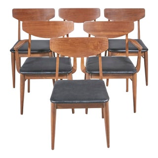 1960s Stanley Furniture Dining Chairs by Paul Browning, Set of 6 For Sale