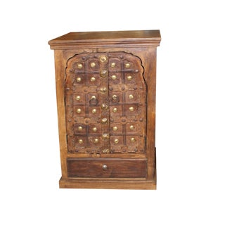 Antique Indian Doors Small Cabinet For Sale