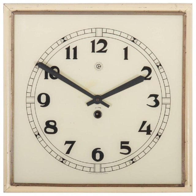 Art Deco Wall Clock, 1936 For Sale - Image 6 of 6