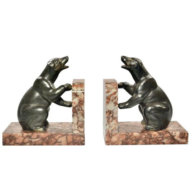 French Art Deco Polar Bear Bookends - A Pair For Sale In San Francisco - Image 6 of 6