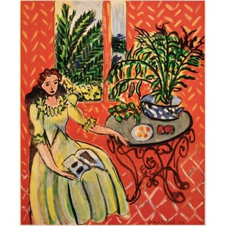 """Rare 1948 Matisse """"Young Girl in Green Dress"""" First Edition Period French Lithograph for Verve For Sale"""
