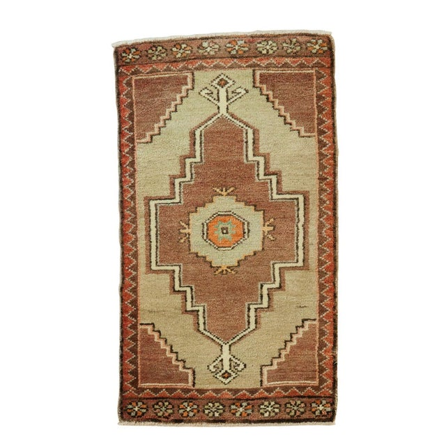 "Vintage Turkish Oushak Runner - 1'7"" x 2'8"" For Sale"