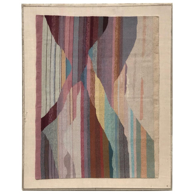 Handwoven Abstract in Plexi Case From a Steve Chase Palm Springs Estate For Sale