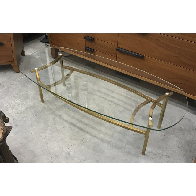 1970s Vintage Italian Brass Coffee Table For Sale - Image 9 of 9
