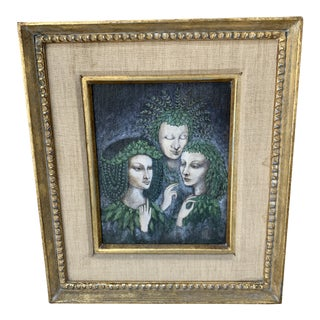 Late 20th Century The Three Sisters of Semangelof Painting For Sale