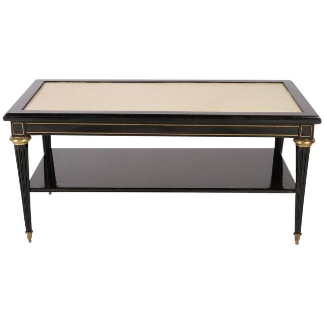 Directoire Style Ebonized Coffee Table - Image 1 of 6