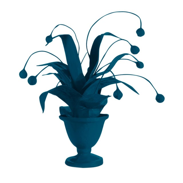 Contemporary Stray Dog Designs for Chairish Crunchberry Faux Plant, Deep Blue For Sale - Image 3 of 3