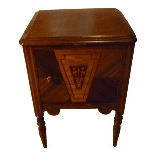 19th Century Italian Side Table With Storage Nightstand Inlay Craft Work For Sale