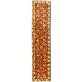 """Indian Handmade Runner Rug - 2'8"""" x 11' For Sale"""