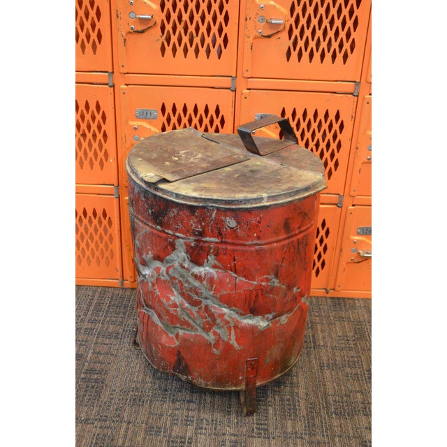 Industrial Rag Bin with Hinged Lid - Image 10 of 10