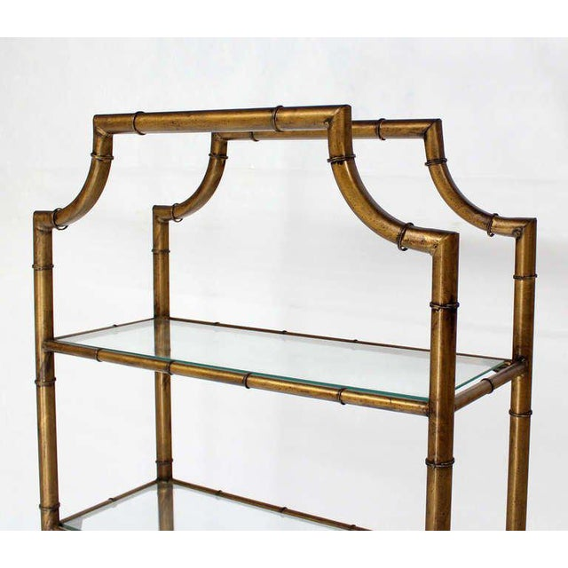 Early 20th Century Mid-Century Modern Five-Tier Faux Bamboo Etagere Shelving Unit For Sale - Image 5 of 10