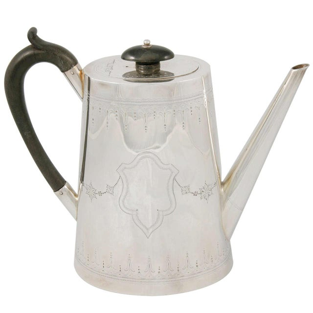 Silver Plate Coffee Pot For Sale - Image 9 of 9