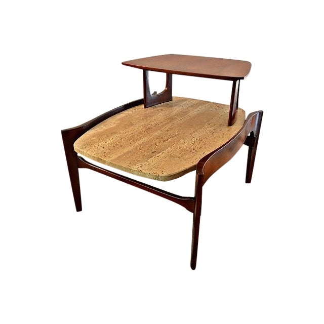 Bertha Schaefer Mid-Century Floating Marble Table - Image 1 of 7