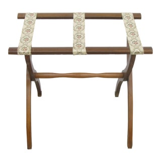 Vintage Wood & Ribbon Luggage rack