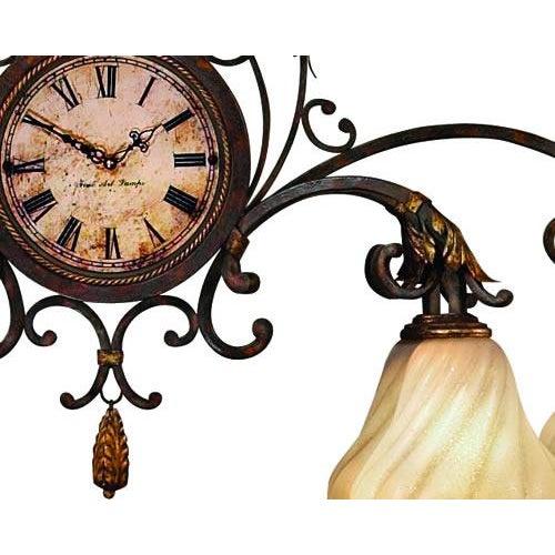 Fine Art Lamps Antiqued Iron Chandelier - Image 3 of 10