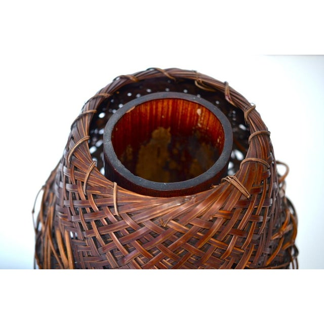 Antique Japanese Woven Ikebana Basket - Image 4 of 5