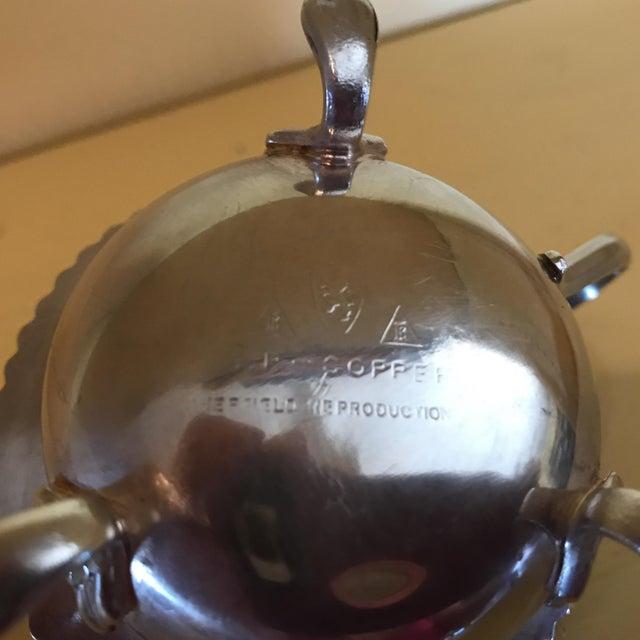 Vintage Silver Mustard Pot & Matching Salt Cellars - Set of 3 For Sale - Image 6 of 8