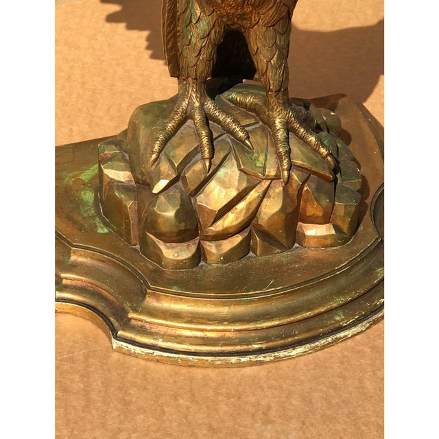Traditional Early 20th Century Carved Giltwood Eagle Console For Sale - Image 3 of 6