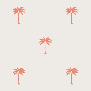 House of Harris Landalee Wallpaper, 30 Yards, Coral For Sale