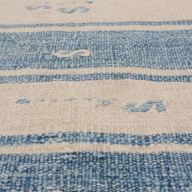 "1940s Vintage Malatya Geometric Blue Gray Wool Kilim Runner-2'5'x15'5"" For Sale - Image 5 of 8"