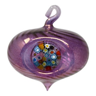 Purple Christmas Ornament From Murano For Sale