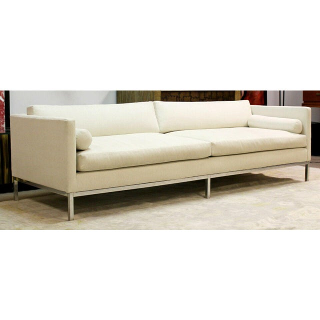 For your consideration is a phenomenal sofa, on a chrome base, by B&B Italia, made in Italy, circa the 1970s. In very good...