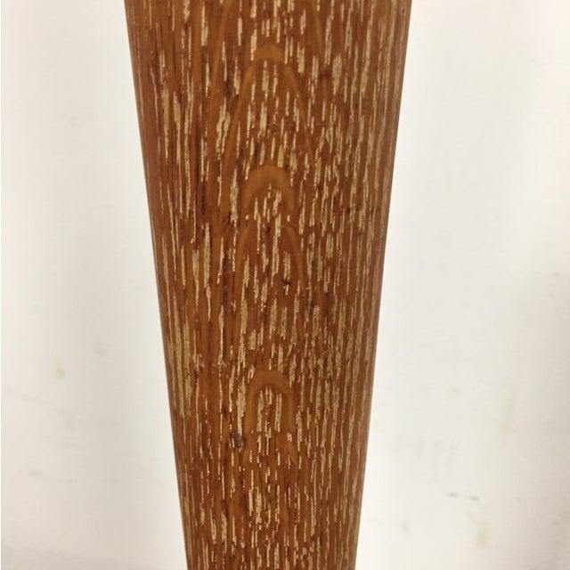 Mid-Century Oak & Aluminum Floor Lamp - Image 8 of 10