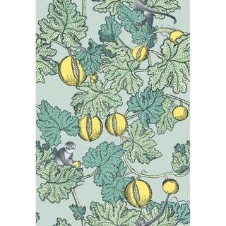 Cole & Son Frutto Proibito Wallpaper Roll - Seafoam & Lemon For Sale