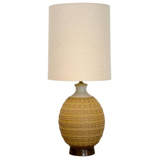 Studio Pottery Table Lamp by Bob Kinzie, Original Shade For Sale