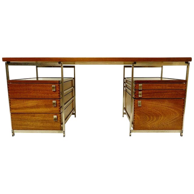 Desk by Jules Wabbes for Foncolin, Belgium, 1957 For Sale