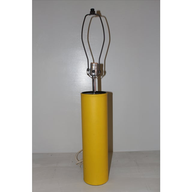 George Kovacs Yellow Leather Cylinder Lamp - Image 4 of 4