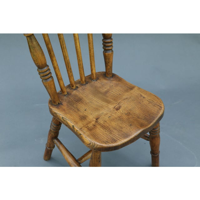 Antique English Elm Child's Chair - Image 4 of 8