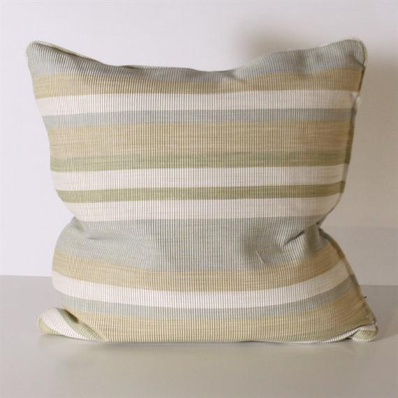 Pair of Kravet Middle Kingdom ottoman cloth pillows. Made in Dallas for Jan Showers and Associates.