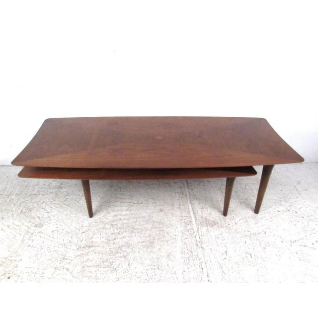Vintage Modern Two-Tier Pivot Coffee Table For Sale - Image 4 of 11