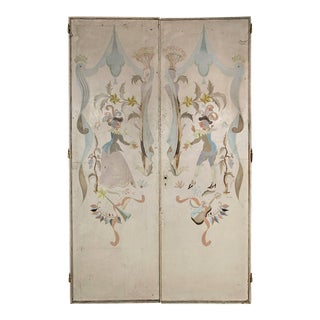 1940s Vintage French Signed and Hand-Painted Doors For Sale