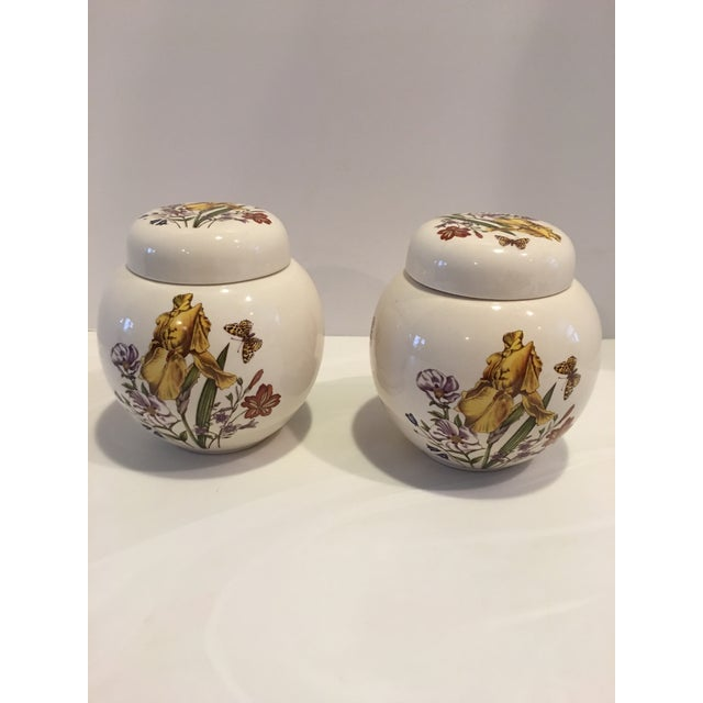 Traditional Pair of English Vintage Mason Ginger Jars For Sale - Image 3 of 5