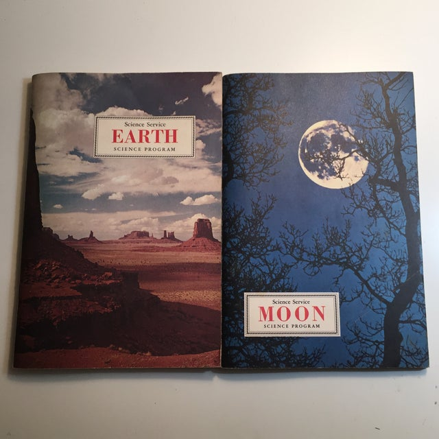 1967 Earth and Moon Science Service Books - Set of 2 For Sale - Image 11 of 11