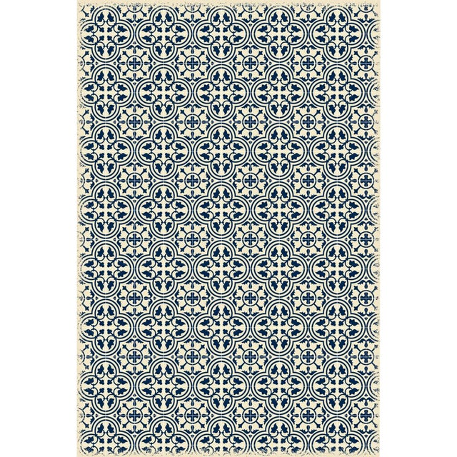 Blue & White Quad European Design Rug - 4' X 6' - Image 1 of 3