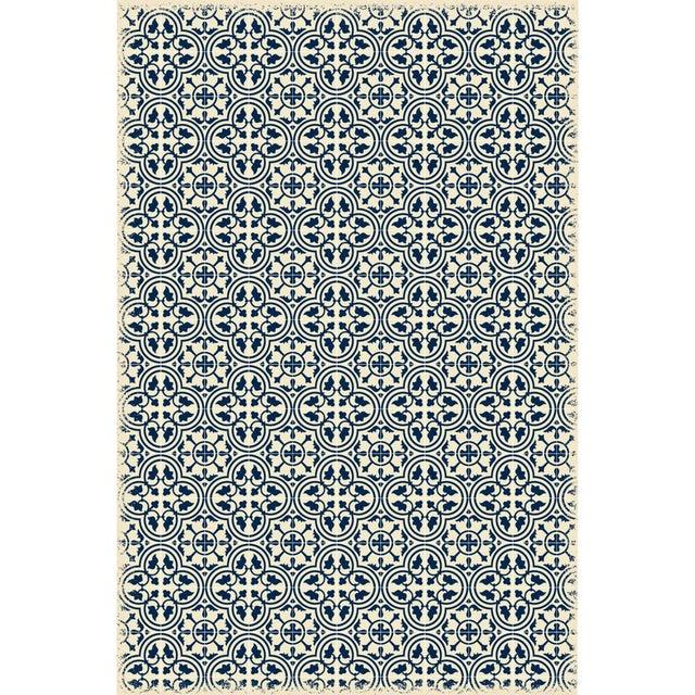 Blue & White Quad European Design Rug - 4' X 6' For Sale