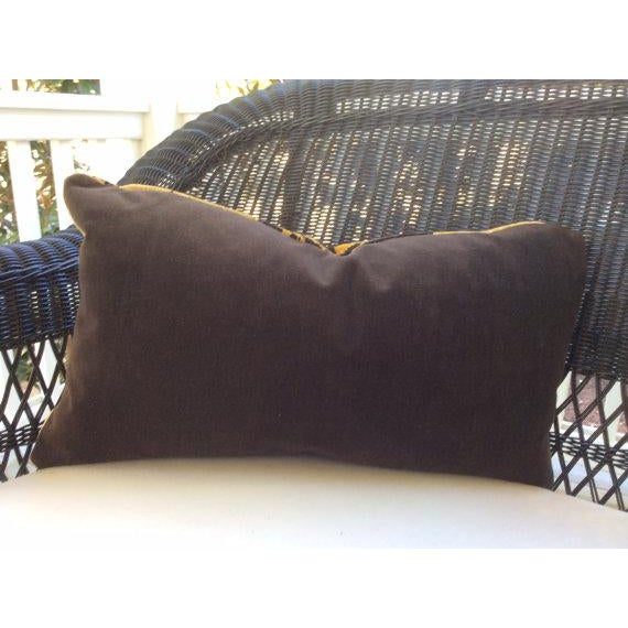 """Scalamandre """"Tigre""""Pillows in Gold & Black - a Pair - Image 3 of 3"""
