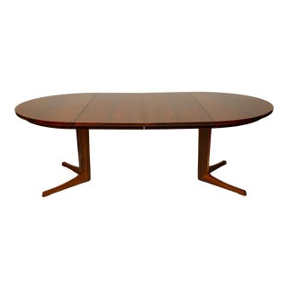 Danish Modern Rosewood Dining Table by Bernhardt Petersen & Sons For Sale