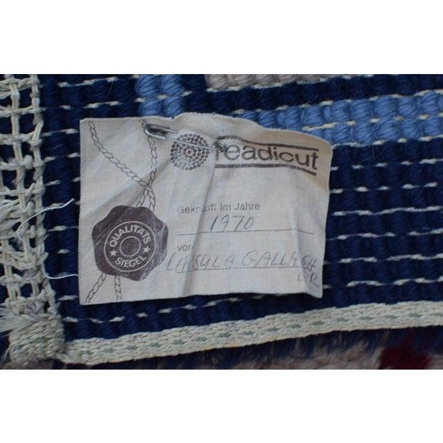 Handmade Vintage Rug For Sale - Image 9 of 10