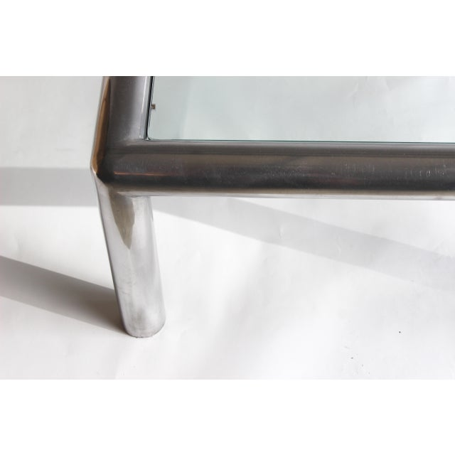 Terrific Aluminum And Glass Tubo Coffee Table By John Mascheroni Evergreenethics Interior Chair Design Evergreenethicsorg