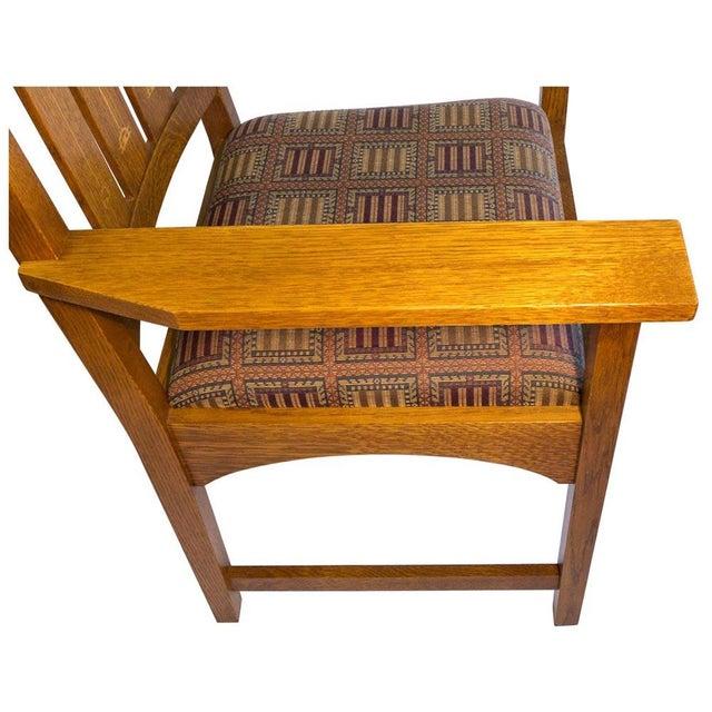 Stickley Harvey Ellis Oak Art & Crafts Chairs - Pair - Image 6 of 9