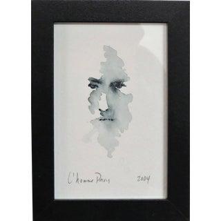 L'homme, Paris. Ink on Paper Framed Under Glass. 2004. For Sale