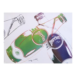 1983 Original Andy Warhol Poster, Perrier Advertisement For Sale