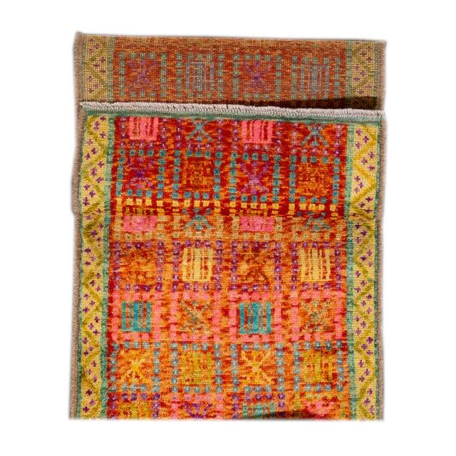 "Afghan Modern Gabbeh Rug, 2'0"" X 5'0"" For Sale - Image 3 of 10"